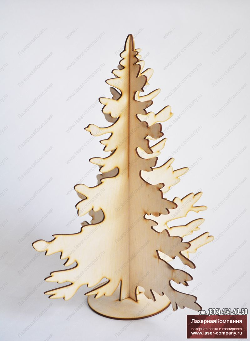 """Новогодний декор """"Ель"""" из дерева"""