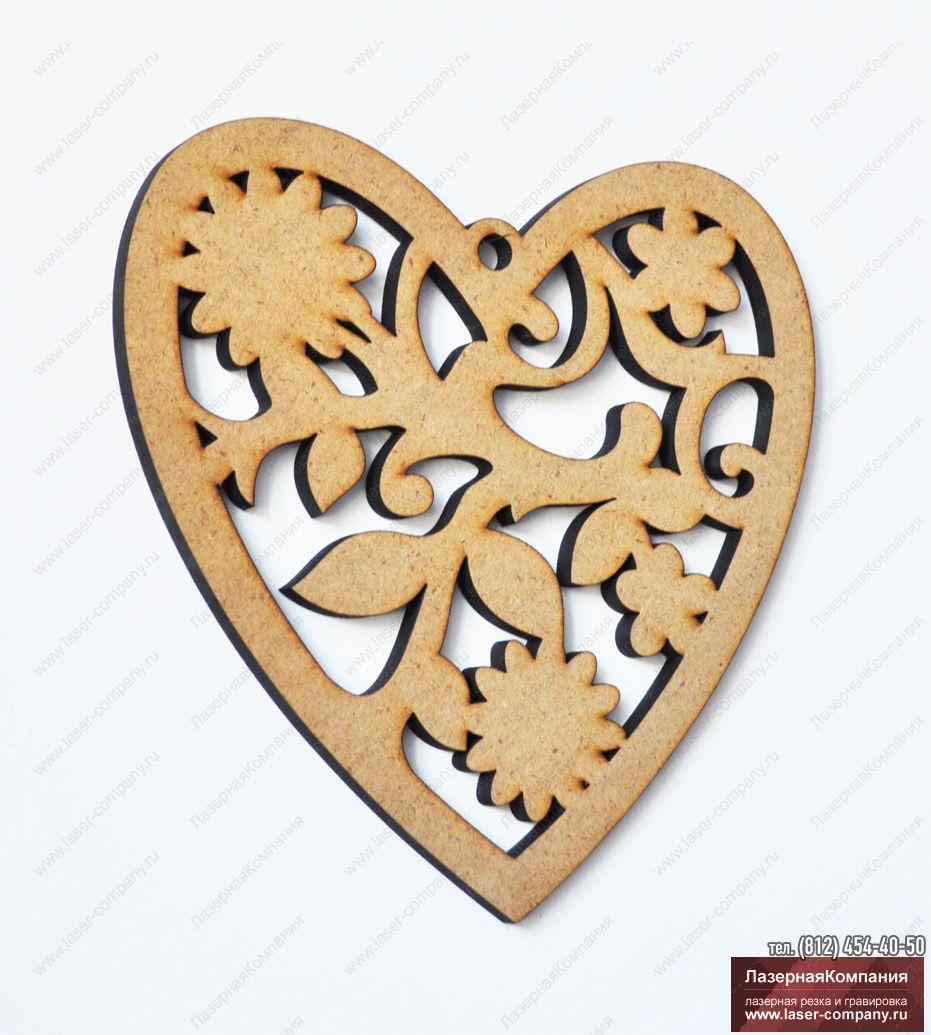 """Декор на стену """"Сердце"""" из дерева"""