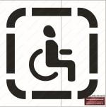 Трафарет инвалид своими руками