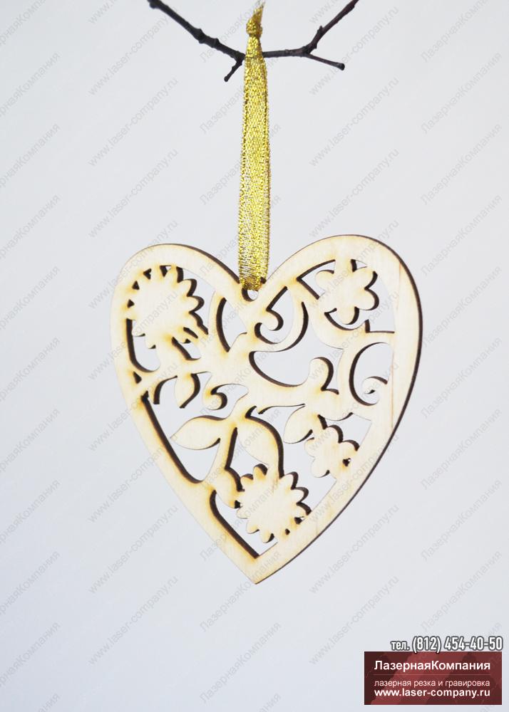 """Декор """"Сердце"""" из дерева"""