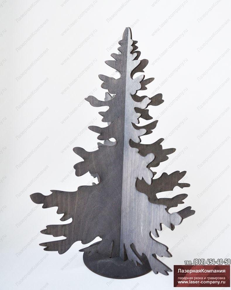 """Новогодний декор """"Ель"""" из дерева с покрытием морилкой"""