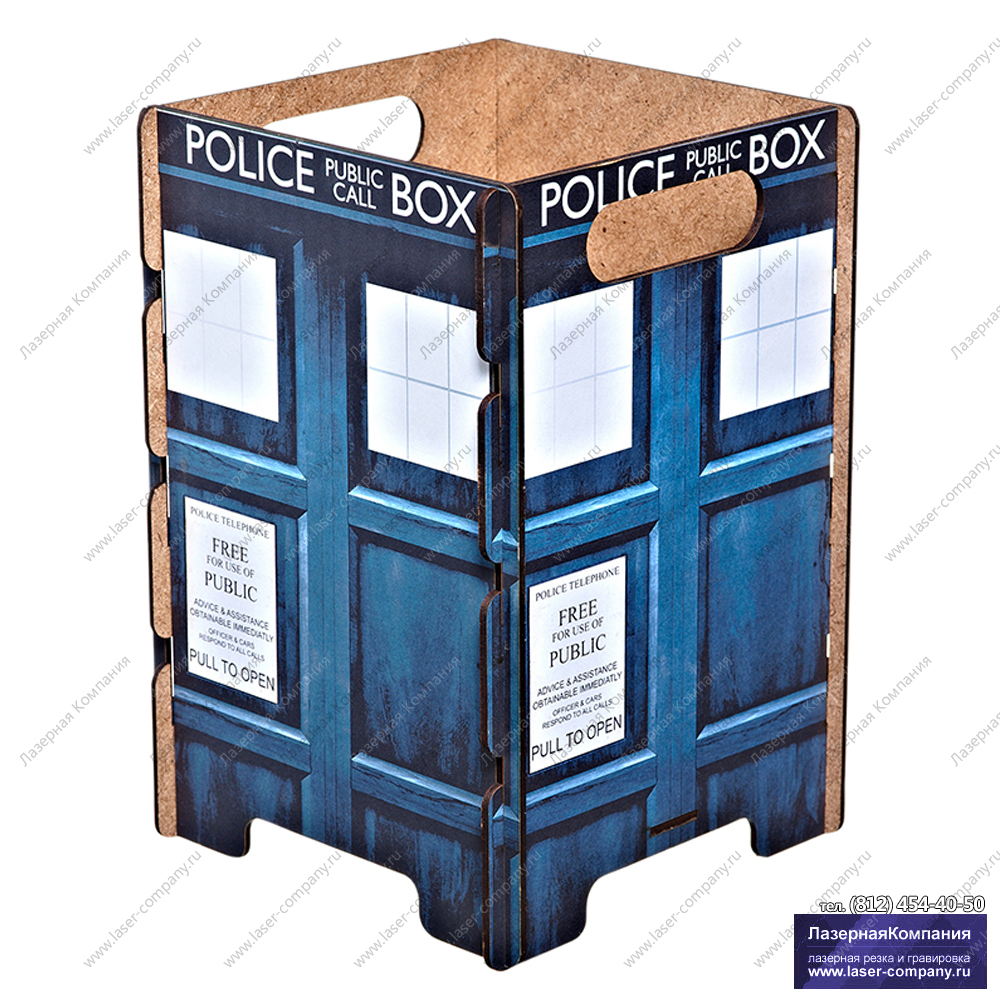 """Оригинальная корзина для бумаг """"Полицейская будка"""""""