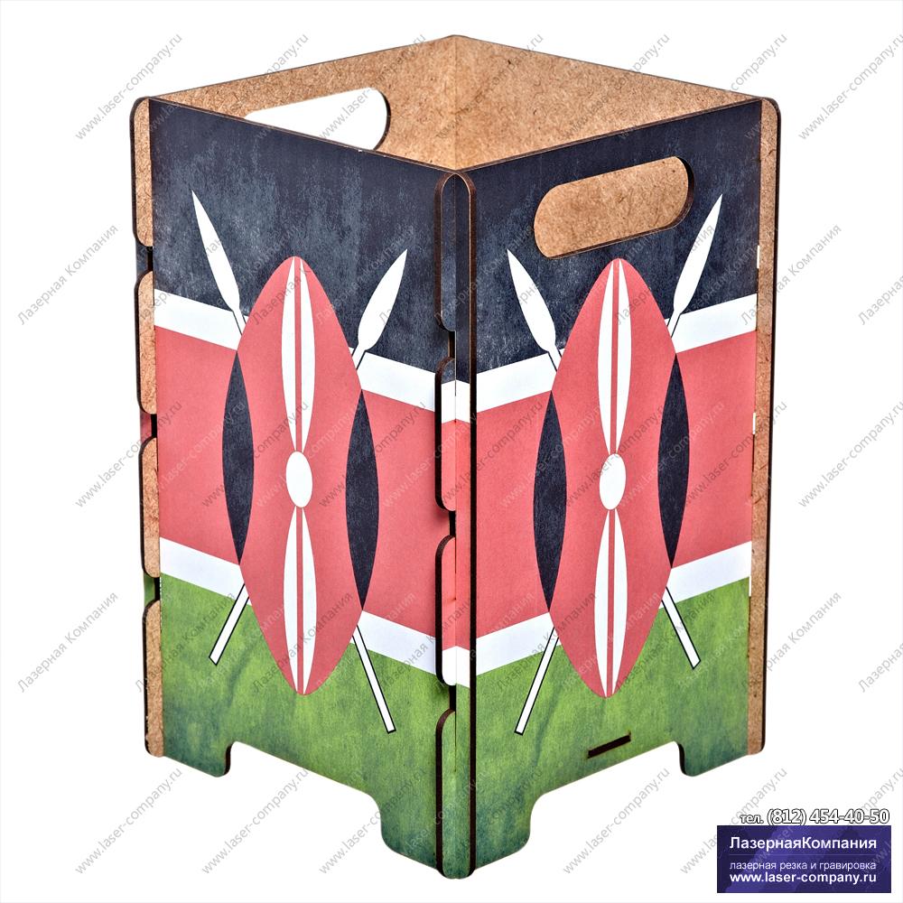 """Оригинальная корзина для бумаг """"Кения"""""""