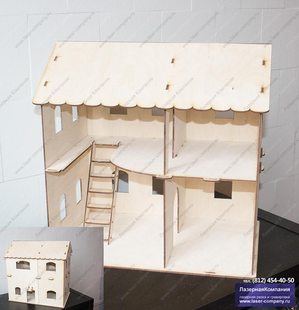 Кукольный домик №2 с лесенкой