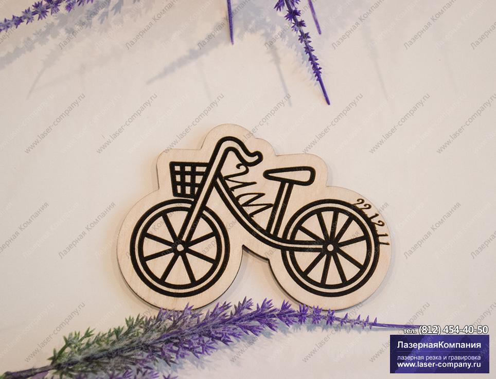 """Свадебный магнит """"Велосипед"""""""