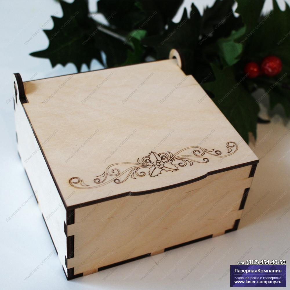 """Коробка под подарок """"Рождественская веточка №2"""""""
