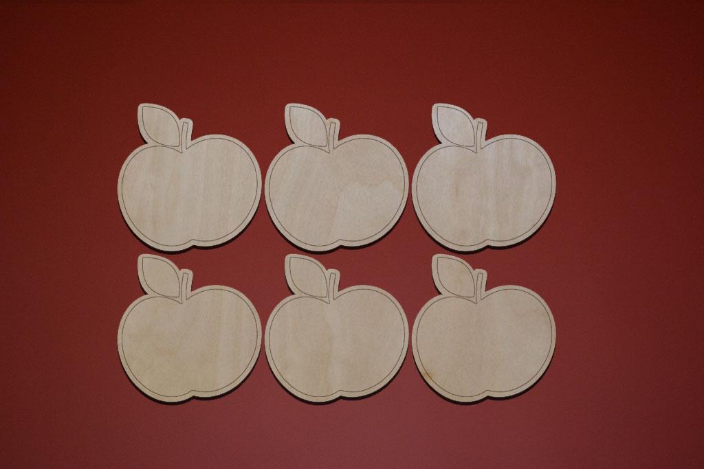 "Подставки под горячее ""Яблочки"" (6 шт.)"