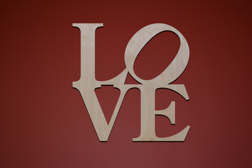 "Слово декоративное ""Love"" (квадрат)"