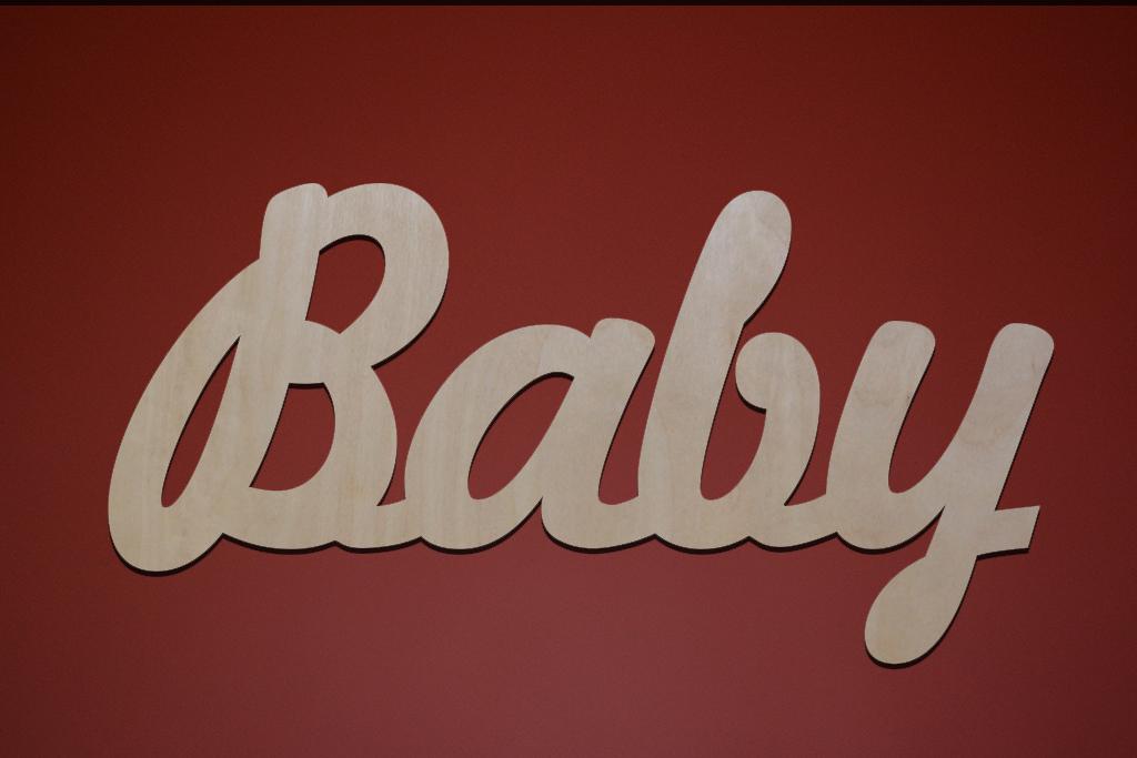 "Слово декоративное ""Baby"""