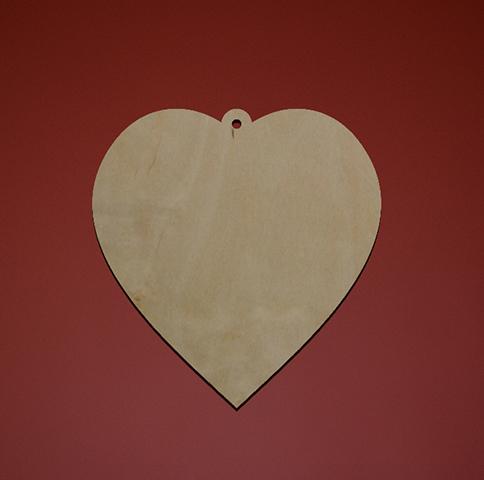 Заготовка деревянная «Сердечко»