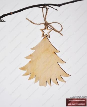 """Декор """"Новогодняя ель"""" из дерева"""
