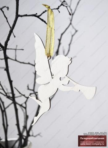 """Декор на елку """"Ангелок""""  из дерева"""