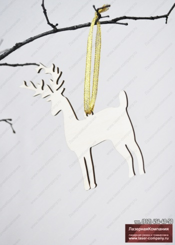 """Декор """"Благородный олень"""" из дерева"""