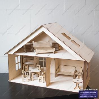 Кукольный домик №3 с мансардой