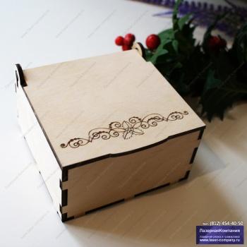 """Коробка под подарок """"Рождественская веточка №1"""""""