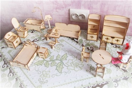 Комплект мебели для кукольного домика