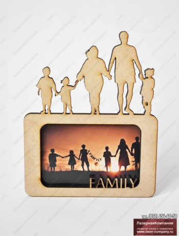 "Фоторамка ""Family"" из дерева"