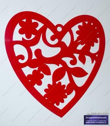 "Декор на стену ""Сердце"" из акрила"